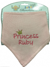 Personalised Princess or Prince Bandana Bib